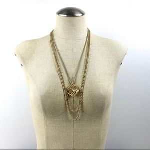 Vintage Multi Tiered Pendant Necklace West Germany